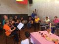 Herbscht-Stubete 2017 Wynauer-Quartett und Silberdischtle. Foto Joyce