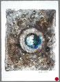 ohne Titel, Monotypie auf Papier, 2003, 37 x 27 cm [20030036] - VERKAUFT