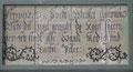Osterbruch, Gedenktafel von 1598
