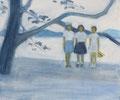 スポーツ少年団 Oil on canvas
