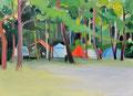 森にひそむ oil on canvas