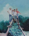 「hikers」 60.5×50cm(F12) Oil on canvas 2013