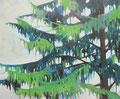 見上げればヒマラヤ杉 oil on canvas