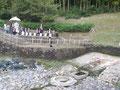 オープニングイベント・亀型石造物周辺