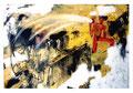 © Schidlo; Schieles Zeichen; Tempera/ Mischtechnik, Tempera auf grundierter Pappe, 2015