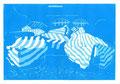 © Schidlo 2014; Die blauen Boote - Stillleben, 2. Zustand; Linolschnitt