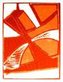 © Schidlo 2015, Komposition in Rot, Holzschnitt