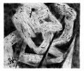 © Schidlo; Der Knoten; 2011, Monotypie