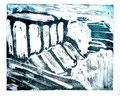 © Schidlo; Erhabene Trümmer III - Priene, Aquatinta auf Bütten, Z, 2013