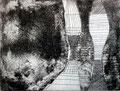 © Schidlo; Die Wand, 2013; Kaltnadel / Aquatinta; Kupferplatte