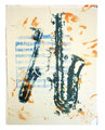 © 2014 Schidlo; more than jazz - Blue Trane III, Lithografie auf Bütten