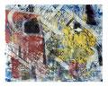© Schidlo; Zwei neue Gesichter, 2011, Monotypie / Mischtechnik