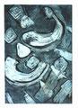 © Schidlo; Komposition II Blau, 2015,  Aquatintaradierung, Zinkplatte