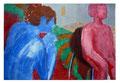 © Schidlo; Frauenphantasien; Tempera auf grundierter Pappe ,2012