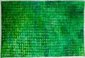 Opgebouwde kleur  groen  ingelijst 50x65 cm  aquarelverf op katoen