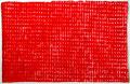 Opgebouwde kleur  rood 1  ingelijst 50x65 cm  aquarelverf op katoen