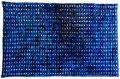 Opgebouwde kleur blauw 1  ingelijst 50x65 cm  aquarelverf op katoen