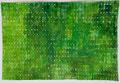 Opgebouwde kleur  groen2 1  ingelijst 50x65 cm  aquarelverf op katoen