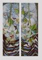 Versteck/ Tempera auf Leinwand/ zweiteilig,je 130 x 45 cm/ 2002