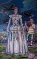 Gewandfrau mit Fischen / 2008 / Tempera auf Leinwand / 160 x 100 cm
