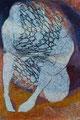 Das Paar /  Tempera auf Leinwand / 140 x 95 cm / 2002