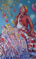 Gewinnausschüttung / 2009 / Tempera auf Leinwand / 160 x 100 cm