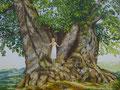 De schat van ouderdom geschilderd door Marian van Zomeren- van Heesewijk met acrylverf op linnen 60 x 80 cm