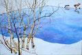 2012 Winterlandschap II acrylverf op linnen 80 x 120 cm.