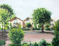 2010 Vanuit atelier Marian aan de Tintlaan 96  Zoetermeer 40 x 50 cm. verkocht