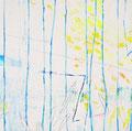 《木と木のあいだから#1》♢ キャンバスにアクリル絵の具、インク 500mm×500mm/2014