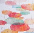 《うたう うたう うたう》 キャンバスに油絵具、インク mm×mm/2015