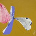 《うれしいきもち》✔ キャンバスにアクリル絵の具、インク、鉛筆 /2015