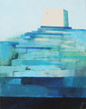 《ここにも風はふく》 キャンバスにアクリル絵の具、インク /2016