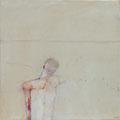 《プール》- キャンバスに油彩、インク 606mm×606mm/2009