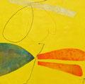 《たのしいきもち》✔ キャンバスにアクリル絵の具、インク、ペン /2015