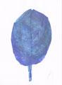 《葉っぱ》✔ 紙にアクリル絵の具、ペン、トレーシングペーパー、色鉛筆 /2016