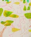 《おどる木々》 キャンバスにアクリル絵の具、インク mm×mm/2015