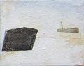 《2月の風景》 キャンバスに油彩、インク 139mm×179mm/2011