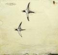 《旅》✔   紙にアクリル絵の具・ペン/210 ㎜×210㎜/2010
