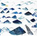 《砂の山たち》✔ キャンバスにアクリル絵の具、インク /2016