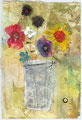 《花》✔ 紙に水彩、パステル、インク、鉛筆/2011
