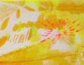 《そまる花》✔ キャンバスにアクリル絵の具、インク 140mm×180mm/2014
