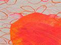 《そまる葉》✔ キャンバスにアクリル絵の具、インク 140mm×180mm/2014