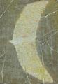 《ワタリドリ》✔ パネルに油彩、インク 158mm×228mm/2014