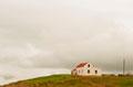 Einsames Haus bei der Kirche Munkaþvera südl. Akureyri