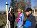 OB-Wahl 2020, Dr. Claudia Alfons beim Besuch des Hoyerbergschlössle, mit Toni Ziegler und Peter Borel