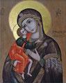 19Cのロシアイコン「聖母子」