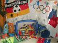 Die Olympiade- und Fußball-Ausstattung