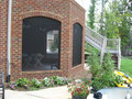 "Arches on Brick with 2"" Trim - Pet Resistant Fabric"