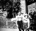 Dietmar und Rudolf ( Rudi ) Katterwe in Groß Graben